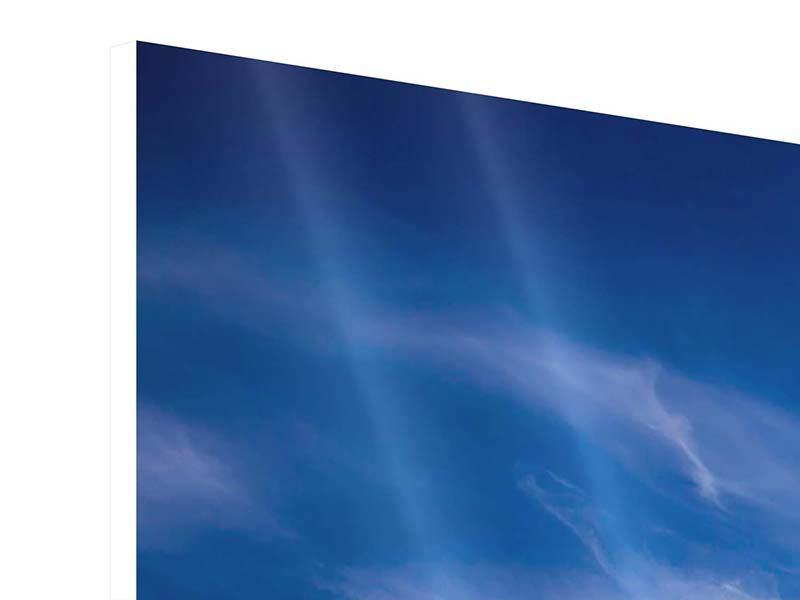 Hartschaumbild 3-teilig modern Schleierwolken