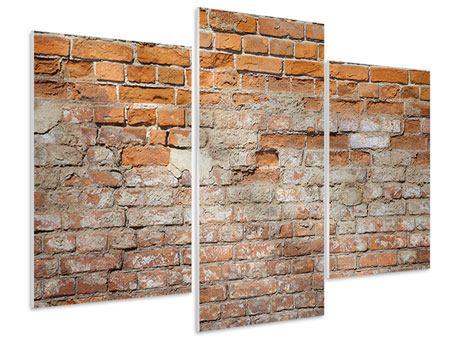 Hartschaumbild 3-teilig modern Alte Klagemauer