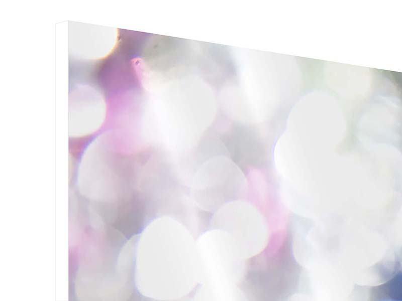 Hartschaumbild 3-teilig modern Abstraktes Licht