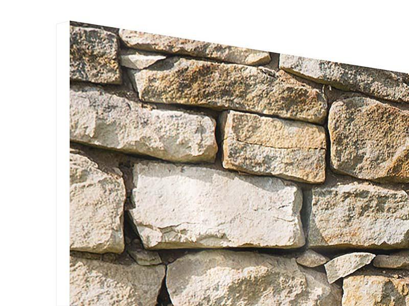 Hartschaumbild 3-teilig modern Natursteine