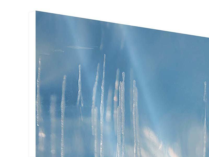 Hartschaumbild 3-teilig modern Das Eis des Baikalsees