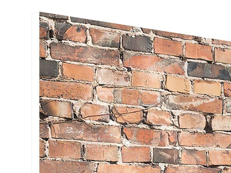 Hartschaumbild 3-teilig modern Alte Backsteinmauer