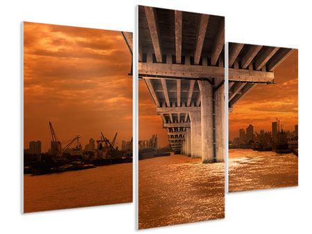 Hartschaumbild 3-teilig modern Die Brücke