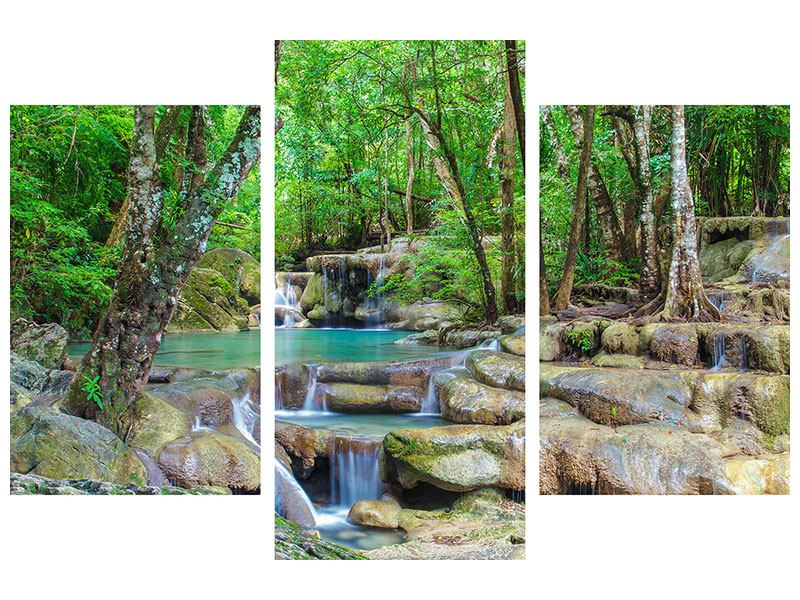 Hartschaumbild 3-teilig modern Wasserspektakel