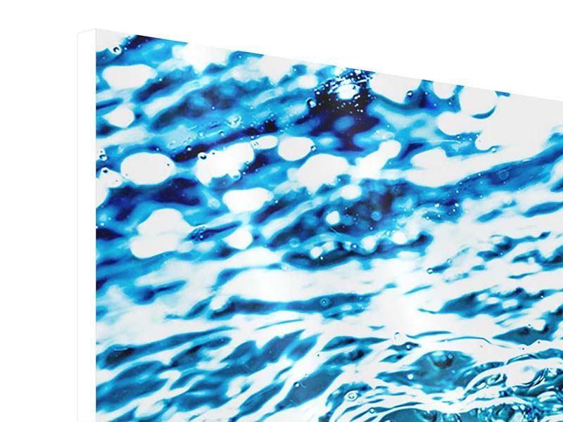 Hartschaumbild 3-teilig modern Wasser in Bewegung