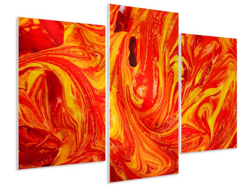 Hartschaumbild 3-teilig modern Wandgemälde
