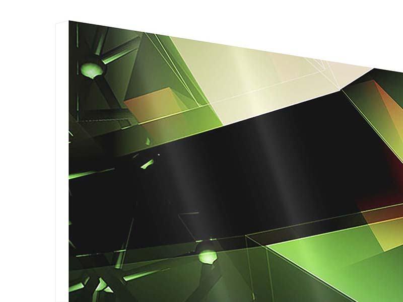 Hartschaumbild 3-teilig modern 3D-Polygon