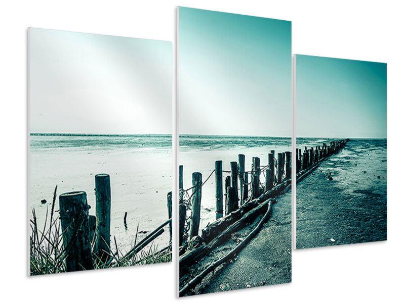 Hartschaumbild 3-teilig modern Das Wattenmeer