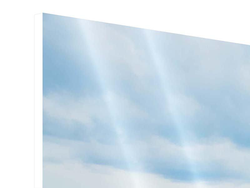Hartschaumbild 3-teilig modern Ozean-Steg