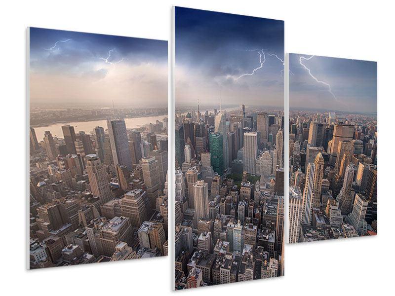 Hartschaumbild 3-teilig modern Manhattan