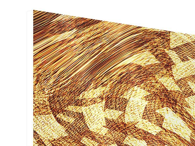 Hartschaumbild 3-teilig modern Retroperspektive