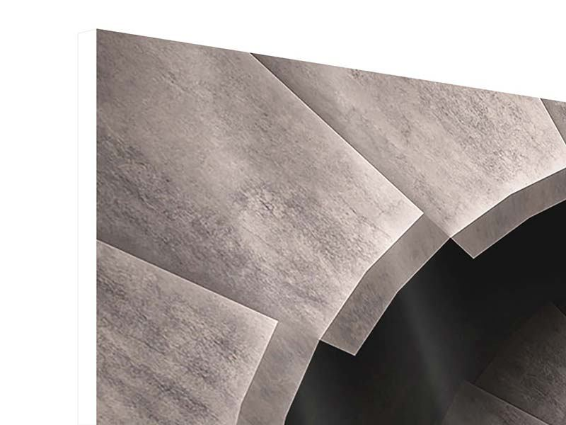 Hartschaumbild 3-teilig modern Steinwendeltreppe