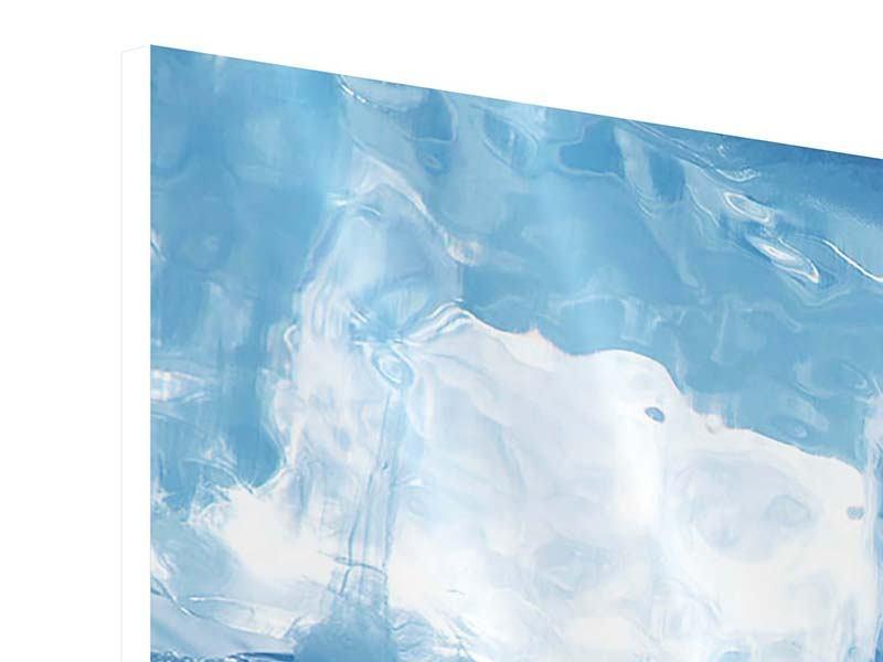 Hartschaumbild 3-teilig modern Baikalsee-Eis