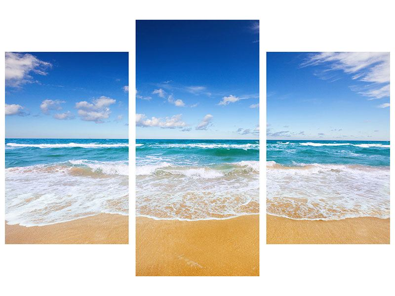 Hartschaumbild 3-teilig modern Die Gezeiten und das Meer