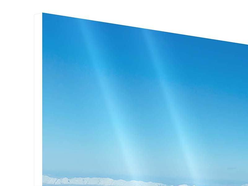 Hartschaumbild 3-teilig modern Über den Wolken