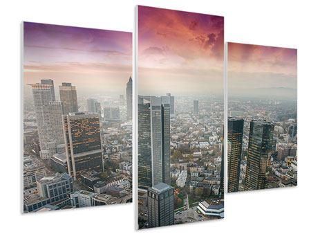 Hartschaumbild 3-teilig modern Skyline Penthouse in New York