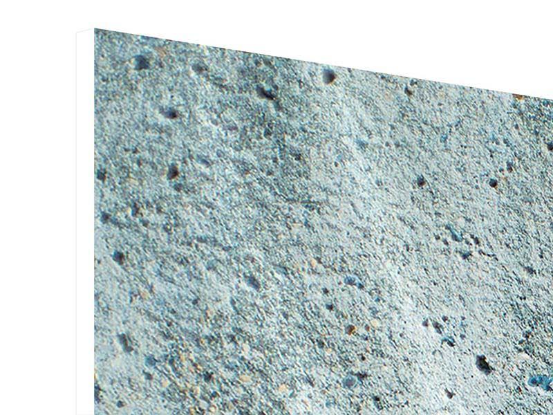 Hartschaumbild 3-teilig modern Beton in Grau