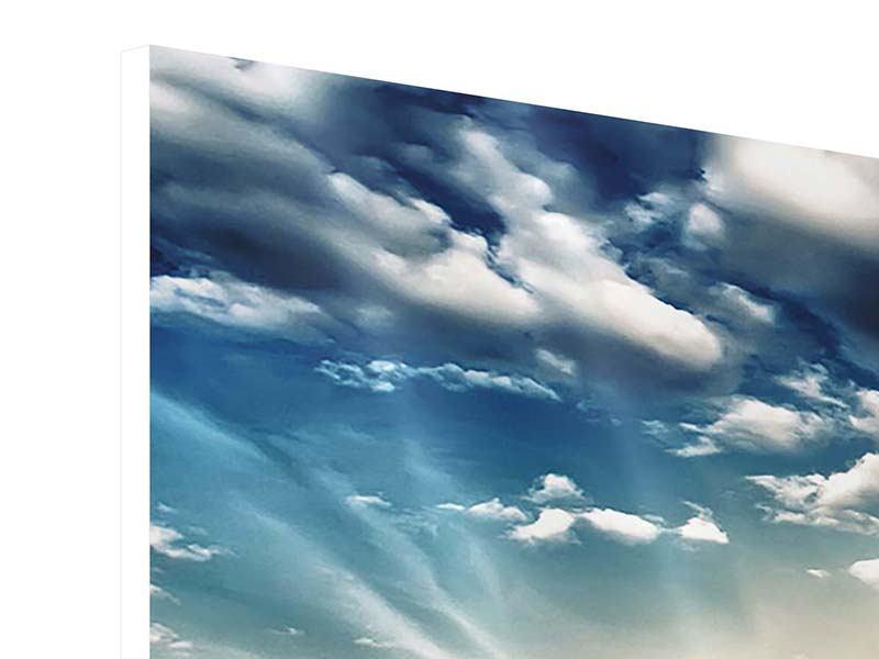 Hartschaumbild 3-teilig modern Skyline Über den Dächern von London