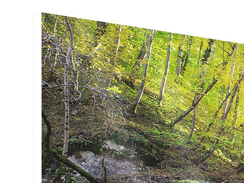 Hartschaumbild 3-teilig modern Fliessender Wasserfall