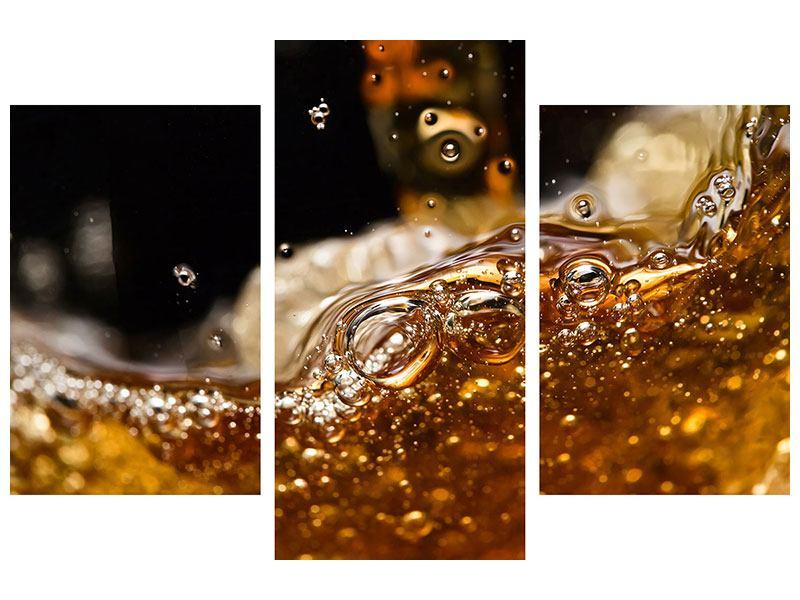 Hartschaumbild 3-teilig modern Cognac