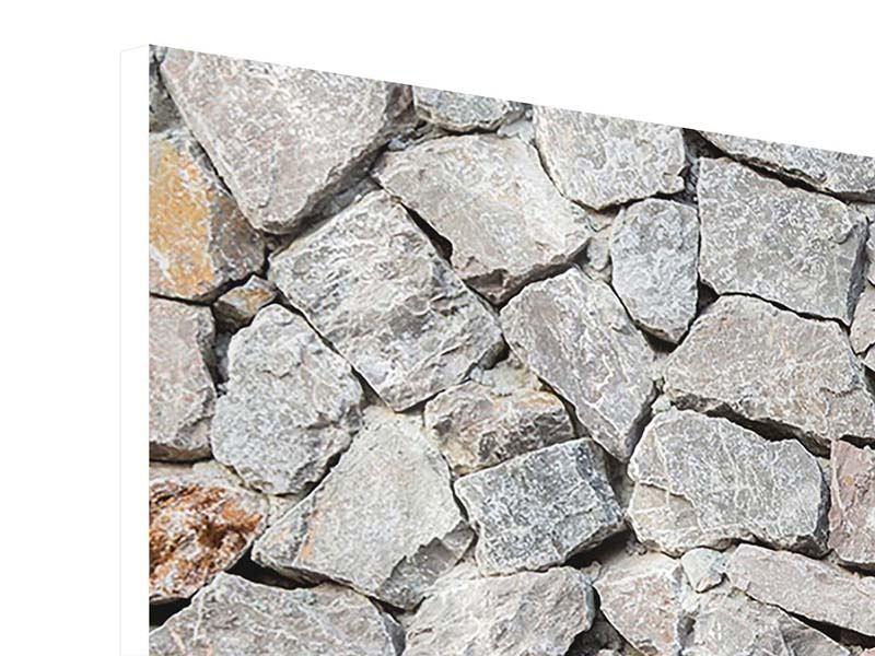 Hartschaumbild 3-teilig modern Grunge-Stil Mauer