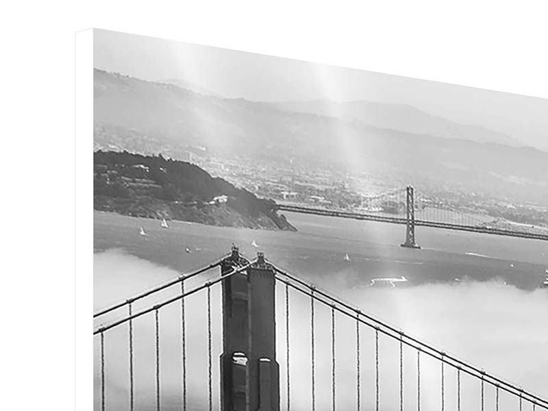 Hartschaumbild 3-teilig modern Golden Gate Brücke