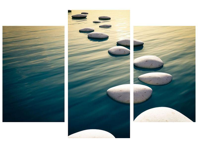 Hartschaumbild 3-teilig modern Der Weg ist das Ziel