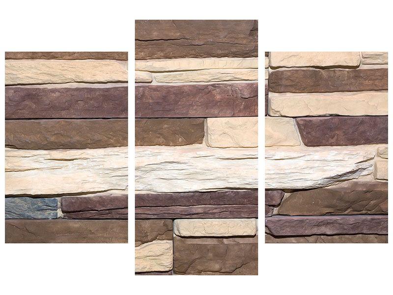Hartschaumbild 3-teilig modern Designer-Mauer
