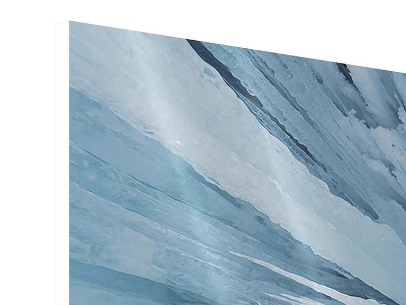 Hartschaumbild 3-teilig modern Eiskunst