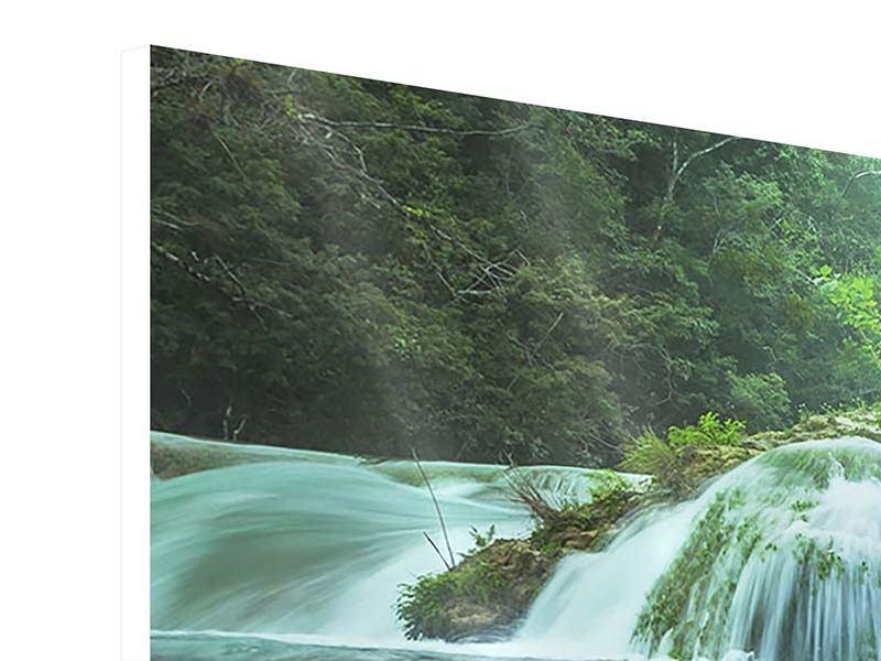 Hartschaumbild 3-teilig modern Gigantischer Wasserfall