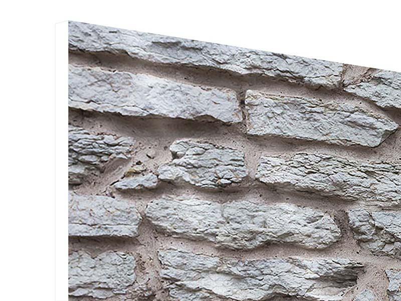Hartschaumbild 4-teilig modern Steinmauer