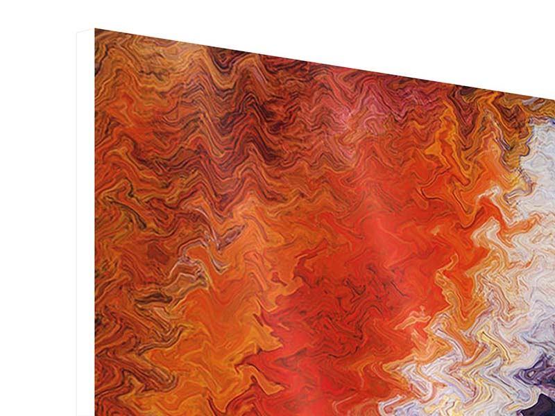 Hartschaumbild 4-teilig modern Wandmalerei