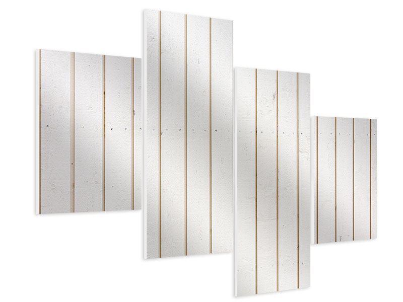 Hartschaumbild 4-teilig modern Mediterranes Holz