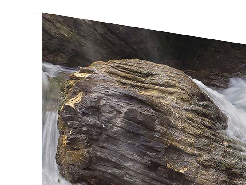 Hartschaumbild 4-teilig modern Wasserfall XXL
