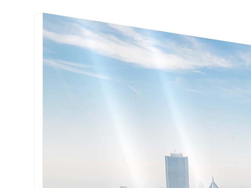 Hartschaumbild 4-teilig modern Wolkenkratzer Chicago
