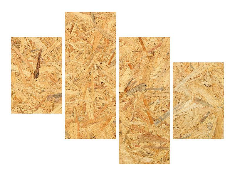 Hartschaumbild 4-teilig modern Gepresstes Holz