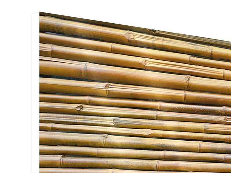 Hartschaumbild 4-teilig modern Bambus