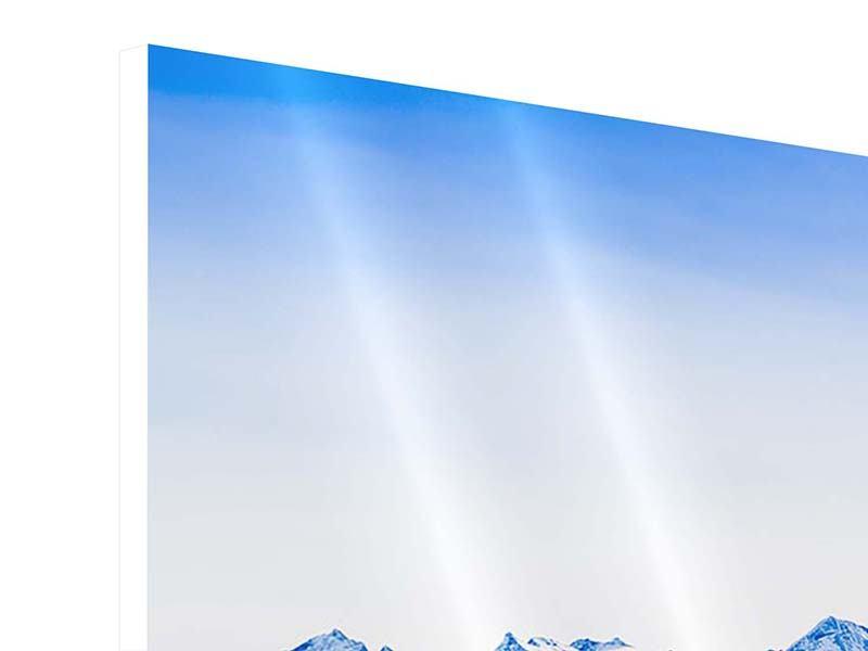 Hartschaumbild 4-teilig modern Die Schweizer Alpen