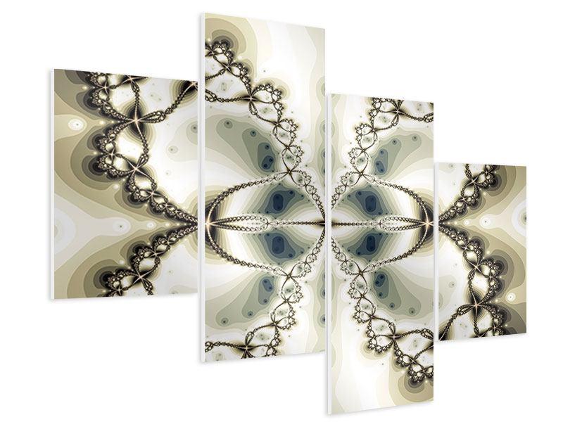 Hartschaumbild 4-teilig modern Abstrakter Schmetterling