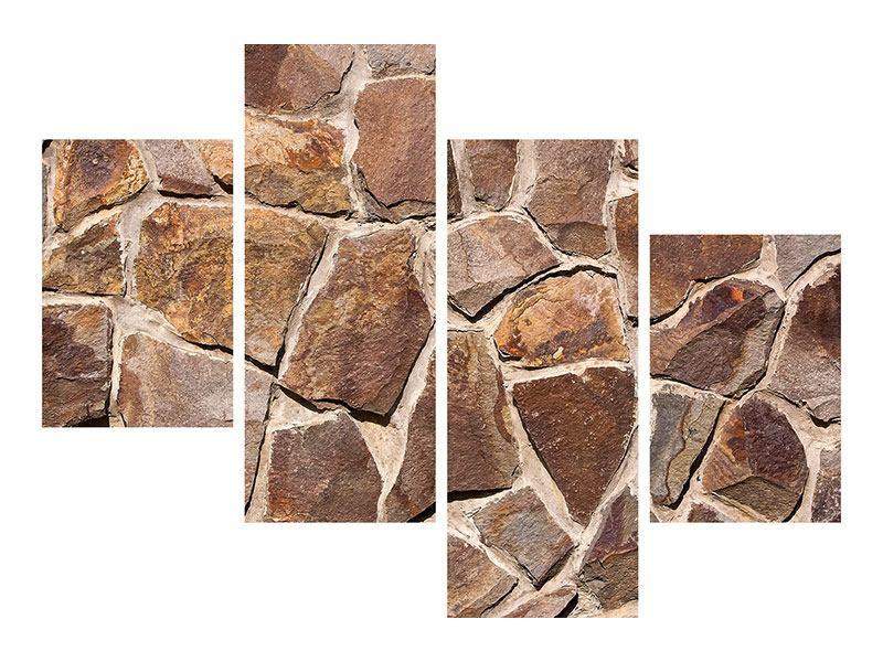 Hartschaumbild 4-teilig modern Designmauer