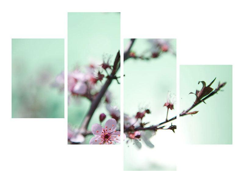 Hartschaumbild 4-teilig modern Die japanische Kirschblüte