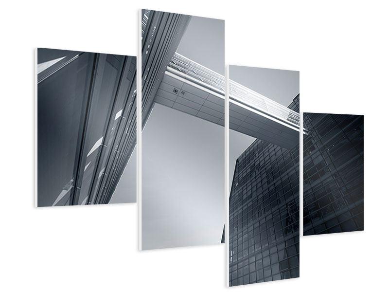 Hartschaumbild 4-teilig modern Der schwarze Diamant Kopenhagens