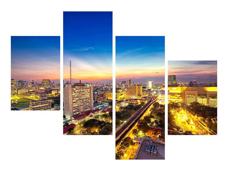 Hartschaumbild 4-teilig modern Bangkok