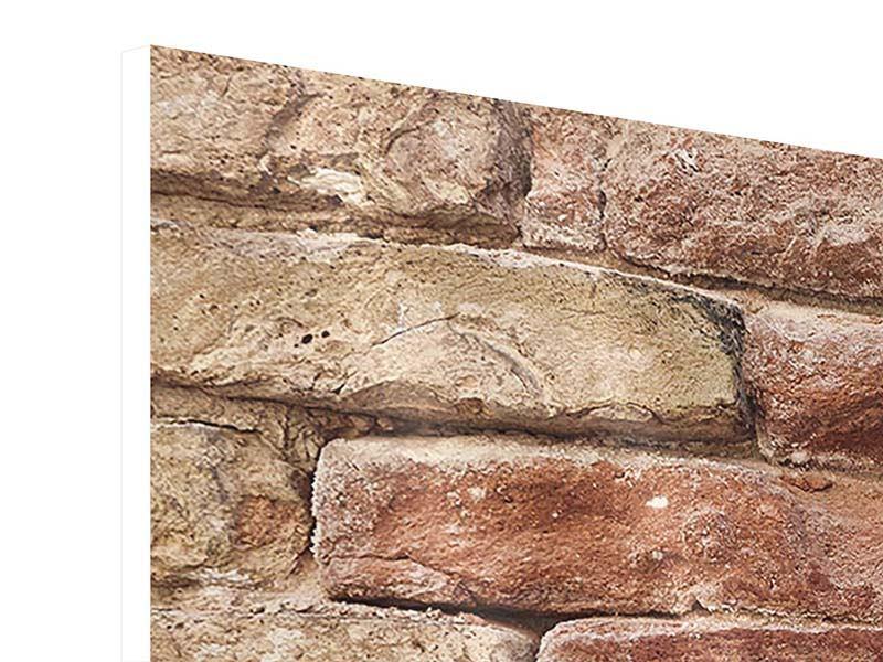 Hartschaumbild 4-teilig modern Loft-Mauer