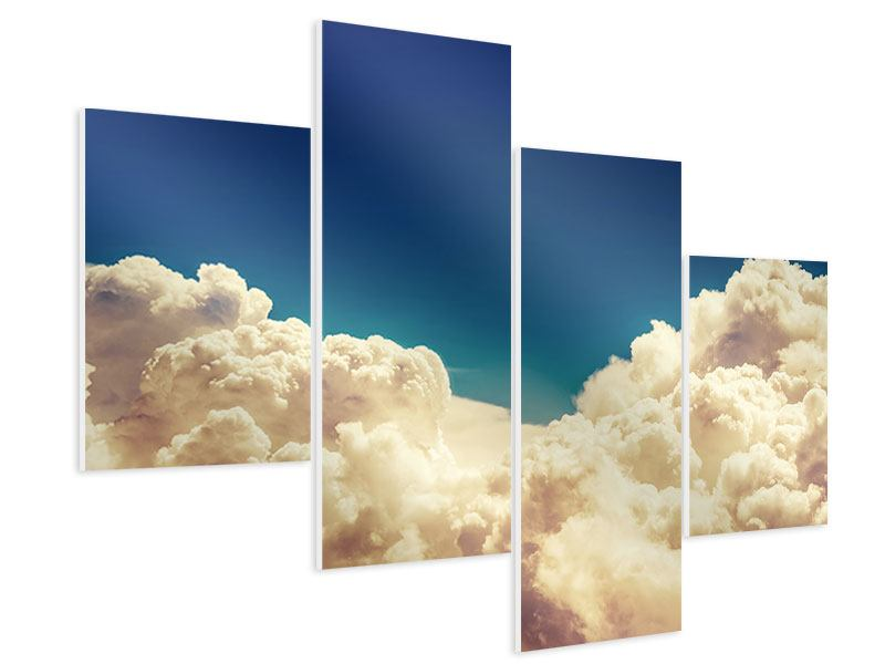Hartschaumbild 4-teilig modern Himmelswolken