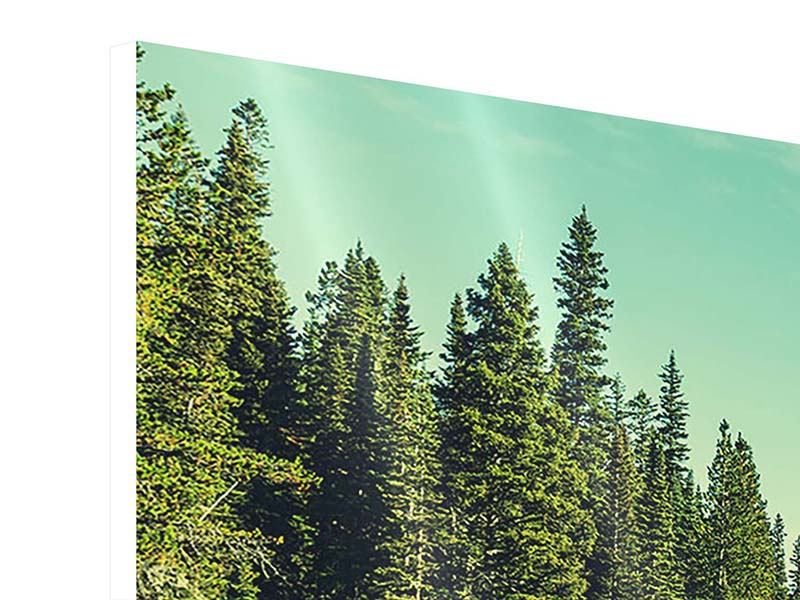 Hartschaumbild 4-teilig modern Die Musik der Stille in den Bergen