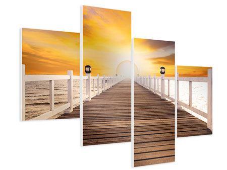 Hartschaumbild 4-teilig modern Die Brücke Ins Glück