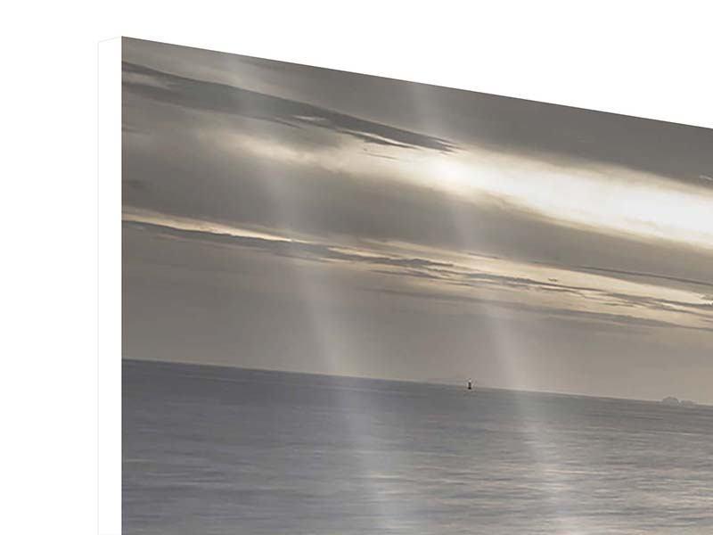 Hartschaumbild 4-teilig modern Das Meer und die Träne