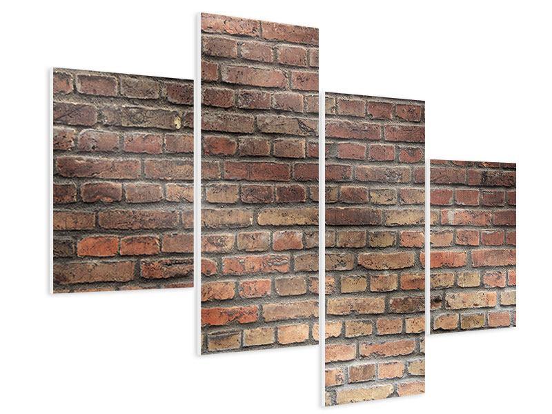 Hartschaumbild 4-teilig modern Brick Wall