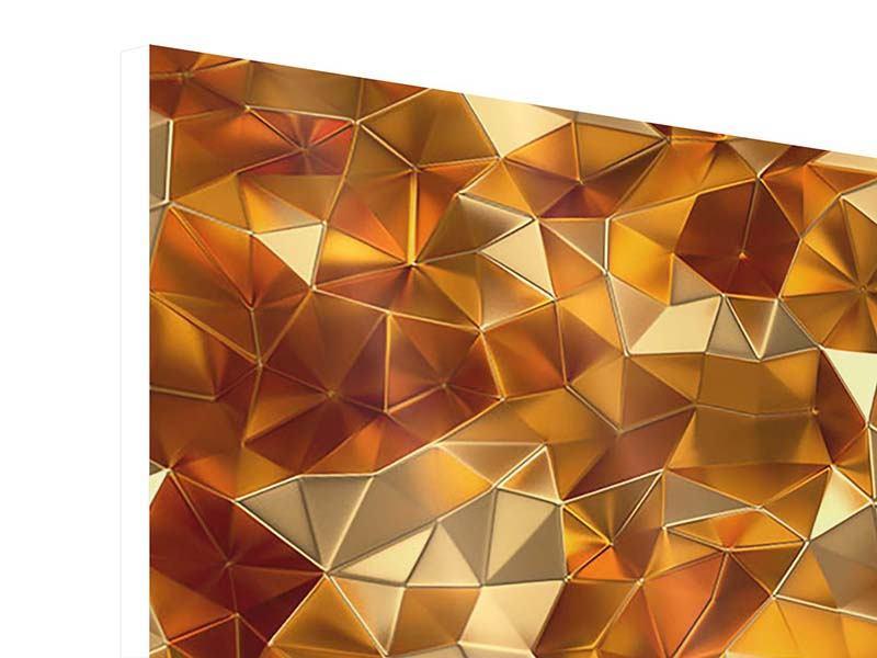 Hartschaumbild 4-teilig modern 3D-Bernsteine